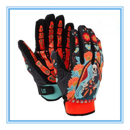 Wholesale Waterproof Polyester Motorcycle - Wholesale-Free shipping 2015 Men's Ski Gloves Snowboard Skull Gloves Windproof Waterproof Unisex Snowmobile Motorcycle Snow Gloves