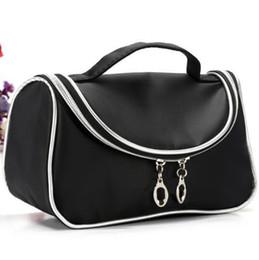 Wholesale Shape M - Brand M Cosmetic Bag Shapes Zipper 190 Nylon Professional Makeup Bags Cosmetic Handbags Black Color Size 20cm*10cm*12cm Cheap Price