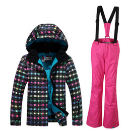 Wholesale Ski Boards - 2016 The new Gsou snow board snowboarding children's board suit children's squares printing waterproof wind thickening warmth