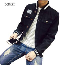 Wholesale Men S Jeans Jackets - Wholesale- Fashion Denim Jacket Men 2016 New Arrival Spring Autumn Jeans Jacket Classic Slim Fit Denim Coat Plus Size S-4XL 5XL
