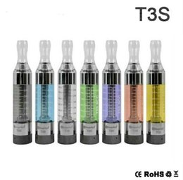 Wholesale Evod Tank Clearomizer - NO Leaking Kanger T3S Atomizer E Cigarette Top Quality Kangertech T3S Tank Clearomizer with Replacement Long Wick Coil Head vs MT3 eVod DHL