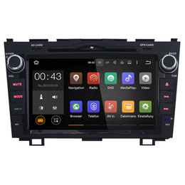 Wholesale Car Auto Stereo Gps - Joyous 2 Din 8 Inch in Dash Car DVD Player For Honda CR-V Android 5.1.1 GPS Navigation Bluetooth TV 3G WIFI Quad Core Auto Radio Stereo
