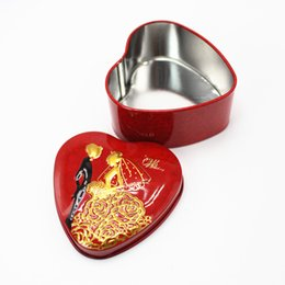 Wholesale Tin Favor Pails - Brand new heart-shaped favor box wedding eco tins favor boxes party favor boxes party decoration box free shipping