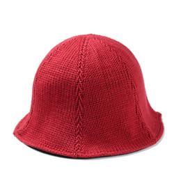 Wholesale Knit Cloche - 5 Color solid Knitting Bucket hats Buckets caps Bucket Hats Baseball Caps Cap Snap Back Snapbacks Hat High Quality Mixed Order F307