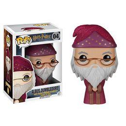 Wholesale Albus Dumbledore - Original Funko Pop Marvel Harry Potter Albus Dumbledore #04Vinyl Doll New Box Car Decoration In Stock Free Shipping