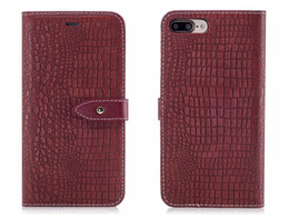 Iphone capa de couro crocodilo on-line-Nova capa de flip para iphone 6 6s 7 8 x mais caso de caso de crocodilo de couro de couro de couro de couro para iPhone6