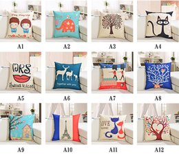 Wholesale New Hotel Knitting - Free Shipping New Arrival Hot Sale Cotton Throw Pillow Case cushion case,Home sofa by printing pillowcase 45 * 45CM