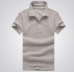 Wholesale Wholesale Men Polo T Shirts - 2016 HOT SAL Summer polo shirts Men's T-shirt bottoming shirt loose cotton polo shirt lapel short-sleeve t shirts