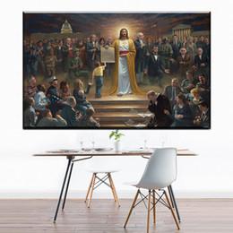 Pinturas a óleo christ on-line-ZZ1737 casa decoração pinturas da lona arte da parede christ lona fotos cópias da arte do óleo para sala de estar quarto decoração v
