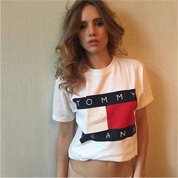 Wholesale Long T Shirt Short Sleeve Women - 2017 Summer hot-selling Ladies T-Shirts Letter Print Short Sleeve Fashion Brand T Shirt Women T-shirt Tops Tee