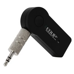 Wholesale Video Bluetooth Adapter - EDUP EP-B3511 Car Music Receiver Wireless Audio Video Adapter Bluetooth 4.1 with 3.5mm Audio Connector