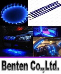 Wholesale waterproof led soft strip light - 3258 1210 15SMD 3M Soft 30cm Waterproof 15 Blue LED Car Vehicle Motor Grill Flexible Light Strips 12V LLFA