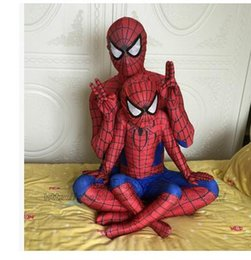 Wholesale Black Spiderman Costume Children - 3D Printing Spiderman Costume Superman Suit Kids Lycra Spider-man Child And Adult Spider Man Halloween Cosplay Costumes