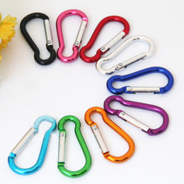 Wholesale Wholesale Keychain Rings Clips - S mini Aluminum multitool button Carabiner keychain Durable camping hiking Carabiner key ring Snap Clip Hooks EDC hangs 250081