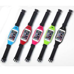 Wholesale Mobile Phone Belt Holders - Universal Sport Waist Bag Running Fitness Running Belt Pouch Case Mobile Phone Holder for 5.0inch Cell Phone Below
