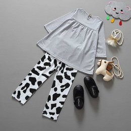 Wholesale Foreign Money Clothing - 2016 foreign trade hot money children's clothing new spring and autumn children's suit dairy girl set wholesale and ret