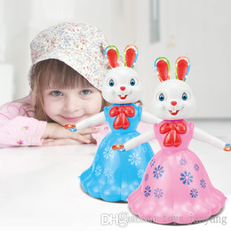 Wholesale Electric Music Rotating - 2016 Hot Sale Interactive Toy Pets Bunnys Princess Electric Toy Lighting music and Swing Dancing Walking Rotating toys for children