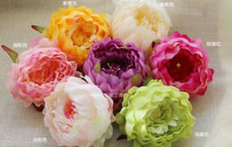 Wholesale Quality Silk Peonies - artificial decorative peony heads simulation DIY silk flower head for wedding home party decoration high quality flowers FB014