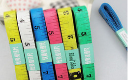Wholesale Measuring Tape Wholesale - 500pcs Body Tape Measure Length 150Cm Soft Ruler Sew Tailor Measuring Ruler Tool Kids Cloth Ruler superior quality Tailor Tape Tape Measures