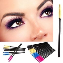 Wholesale Off Price Wholesale - Factory Price!! 30000pcs lot make up brush Pink synthetic fiber One-Off Disposable Eyelash Brush Mascara Wands Applicator Wand Brush By DHL