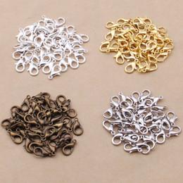 aleación de metal negro Rebajas Broche de langosta al por mayor de la aleación de metal 12mm Oro Plata Bronce Negro Rose Componentes de la joyería del oro Ganchos