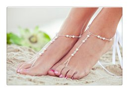 Wholesale Lace Pearl Meter - Beach act the role ofing is tasted Fashionable joker beads handmade beaded crystal pearl meters even refers to the ankles
