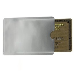 Wholesale Ic Holder - New Safe Anti Theft RFID Blocking Holder Shield Contactless Magnetic IC ID Bank Credit Cards Secure Sleeve Waterproof ( 1000 PCS Lot )