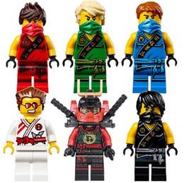 Wholesale Ninja Minifigure - Ninja MinifiguresJay Cole Spinjitzu Building Block Minifigure Juguetes Niños Juguete De Regalo Best Legoelieds Juguetes Decool 0071-0076
