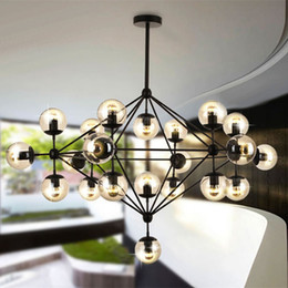 Wholesale Led Bar Glasses - Hot 2 3 5 10 15 21-Lights Glass Jason Miller MODO Chandelier Droplight Living Room Pendant Lamp Light Wall Lighting For Bar Restaurant