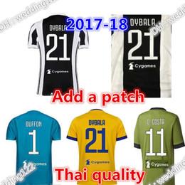 Wholesale Buffon Jerseys - Top thai quality 17 18 Italy Club Soccer jersey 2017 2018 Buffon MARCHISIO DYBALA HIGUAIN DANI MANDZUKIC Goalkeeper Serie A Football shirt