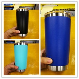 Wholesale Price Stainless - In stock!Hot 8 colours 20oz stainless steel mugs 20oz style cups Drinking cups top quality with best price with lid