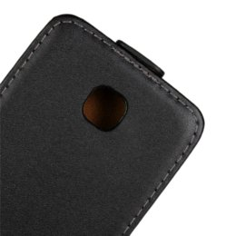 Wholesale Lg Optimus Black Covers - New Arrival Pure Color Up and Down Vertical Flip Leather Case for LG Optimus L3 II E430 Phone Pouch Back Cover Black Gift