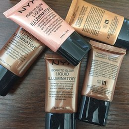 Wholesale Glow Skin Care - NYX makeup Nude concealer 4colors BB cream skin care NYX cosmetics moisturizing liquid foundation glow liquid foundation