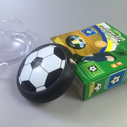 Wholesale Play Train - Kids LED Air Power Soccer Football Boys Girls Sport Children Toys Training Football Indoor Outdoor Disk Hover Ball Game with Foam Bumpers