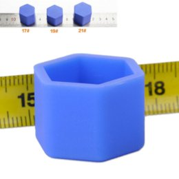Wholesale Rims Lug - 20x Universal 19mm Silicone Hexagonsal Car Wheel Lug Nut Bolt Cover Protective Tyre Valve Screw Cap Antirust Nut Caps Bolt Rims