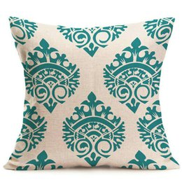 Wholesale European Style Home Decoration - European Style Throw Pillow Case For 43*43 CM Geometric Patterns Back Cover Skin For Pillows Home Party Bar Xmas Halloween Decoration Sofa