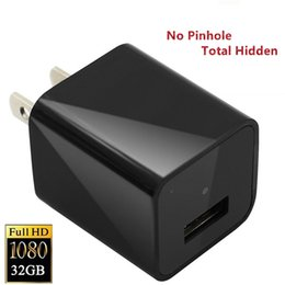 Wholesale Mini Usb Wall Chargers - 1080P HD USB Wall Charger Hidden Spy Camera Mini Nanny Spy Camera Adapter with 32GB Internal Memory