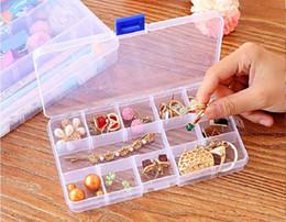 klare plastikfachlagerbehälter Rabatt 300 stücke Einstellbare 10 Fach Kunststoff Klar Aufbewahrungsbox für Schmuck Ohrring Werkzeug Container Housekeeping Organisation ZA0809