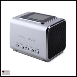 Wholesale original Music Angel speaker mini MD05X speaker support tf card usb disk FM with LCD screen With Line in Mp3 PC Speakers