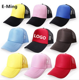 Wholesale Wholesale Trucker Hats Free Shipping - Wholesale Plain Children Baseball Cap Custom Baseball Hats Adjustable Snapback Trucker Cap Your Logo Are Welcome Free Shipping