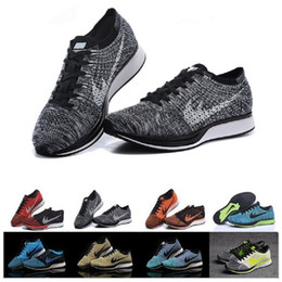 Wholesale Fly Top - Free Shipping Top Quality Fly Racer Running Shoes For Women & Men, Lightweight Breathable Athletic Outdoor Sneakers Eur 36-45