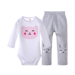 Wholesale Wholesale Long Sleeved Baby Rompers - Baby Rompers Suit Summer Infant Triangle Romper Onesies 100% cotton long sleeved babies clothes pure white for boy girl best gift