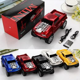 Wholesale Sd Card Usb Mp3 Speaker - Truck Car Shape Mini Wireless Bluetooth Speaker LED Flash Light USB TF SD Card Stereo FM Handsfree Amlifier Car Design Speakers MP3 Player