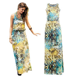 Wholesale Long Summer Womens Cotton Dresses - Summer Butterfly Printing Beach Maxi Dress Long Sleeves Fashions Casual Denim For Womens 2016 Clothing Ladies Bodycon Dresses