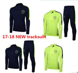 Wholesale Clubbing Pants Men - 2017 Club America tracksuit 16 17 top quality Survetement soccer Training Suits Mexico liga football sweater tops pants