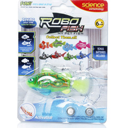 Wholesale Fish Sharks - Free Shipping Magical Turbot Fish Robo Fish Kids Toy Electronic Sharks Swimming Robotic Fish Battery Powered Pet Robofish Christmas Gifts