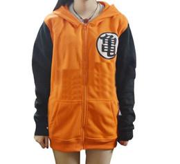 Wholesale Dragon Ball Z Goku Costume - 2Styles New Dragon Ball Z Son Goku Cosplay Hooded zipper hoodie Costume Unisex Cardigan long sleeve Jacket Daily Hoody
