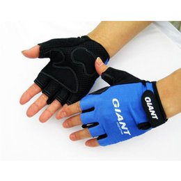 Wholesale Giant Road Cycles - High Quality Bike Gloves Giant Half Finger Cycling Gloves MTB Bicycle Fashion Road Motocross Outdoor Gloves Guantes Ciclismo M-XL 3Colors