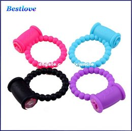 Wholesale Ring Cock Clit - Reusable Clit Vibrating Cock Ring Penis Rings Delay Ring Great Sexx Toyy for Male Adult Sex Products