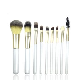 Wholesale High Quality Kabuki - 2016 New Makeup Brushes Set High Quality Nylon Hair Wooden Kabuki Powder Foundation Eyeshadow Eyebrow Lip Cosmetic Tools